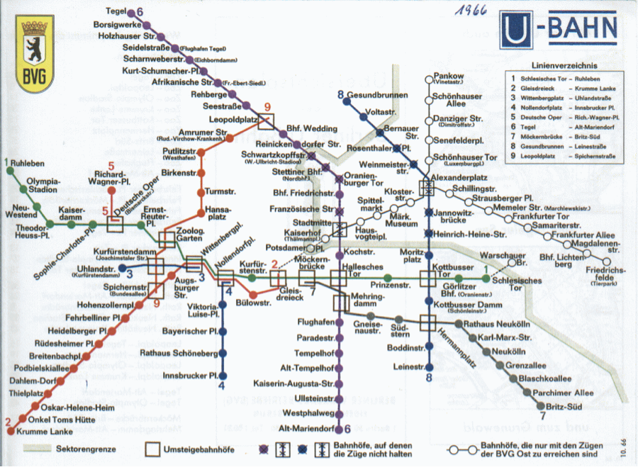 Hon Mention Mapping Divided Berlin The Politics Of Under And - Berlin us bahn map