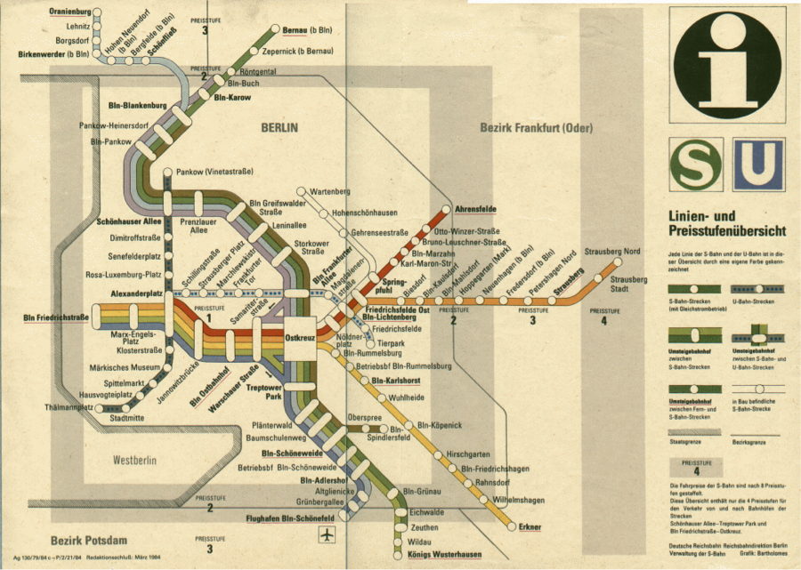 figure 4 east berlin s bahn map without west berlin 198429