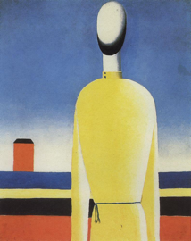 Complex Presentiment, 1928-32. Oil on canvas. 99 x 79 cm. From: http://www.wikipaintings.org/en/kazimir-malevich/bad-premonition.