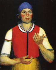 Female Worker, 1933. Oil on canvas, 71.2 x 59.8 cm. From http://www.wikipaintings.org/en/kazimir-malevich/worker-1933.